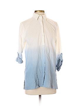 En Creme 3/4 Sleeve Button-Down Shirt Size S
