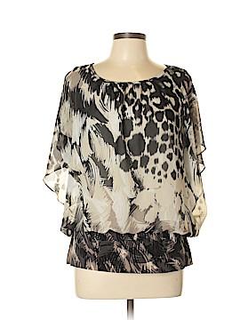 Valerie Stevens Short Sleeve Blouse Size L