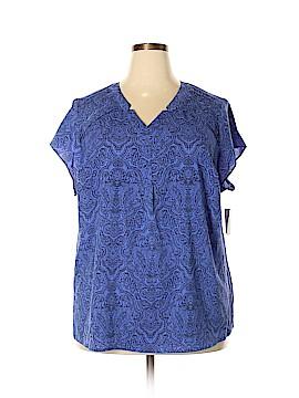 Croft & Barrow Plus Short Sleeve Blouse Size 2X (Plus)