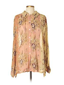 J.R.T Long Sleeve Button-Down Shirt Size L