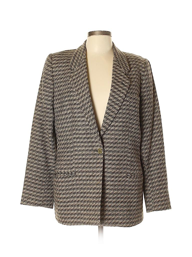 Giorgio Armani Women Wool Blazer Size 46 (IT)