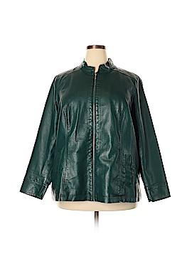 Cj Banks Faux Leather Jacket Size 2X (Plus)