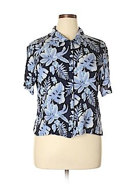 Kathie Lee Short Sleeve Blouse Size XL