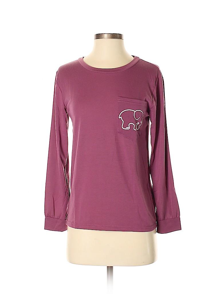 f57b70c1849644 Ivory Ella Graphic Purple Long Sleeve T-Shirt Size S - 50% off