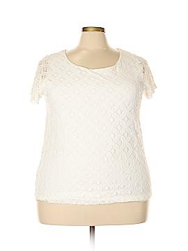Rafaella Short Sleeve Blouse Size 2X (Plus)