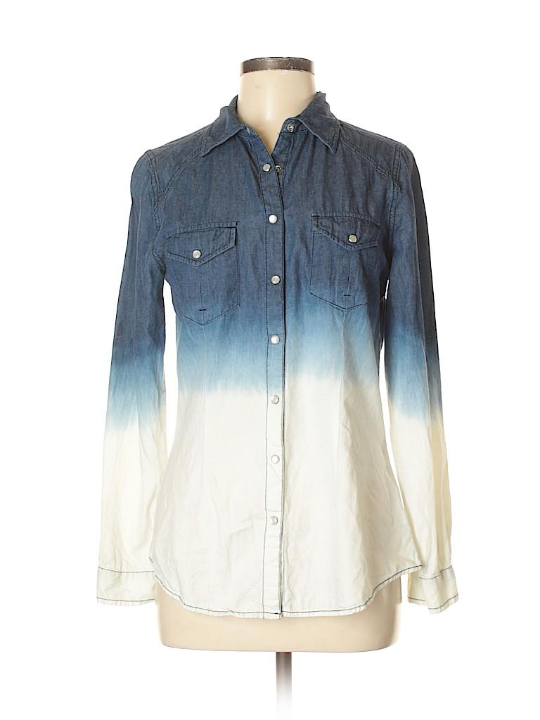 Irene's Story Women Long Sleeve Button-Down Shirt Size M