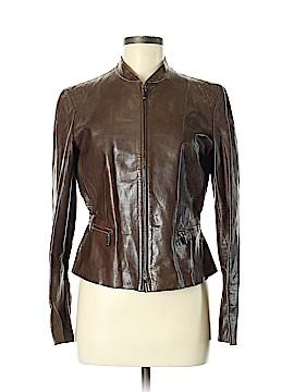 Armani Collezioni Leather Jacket Size 8