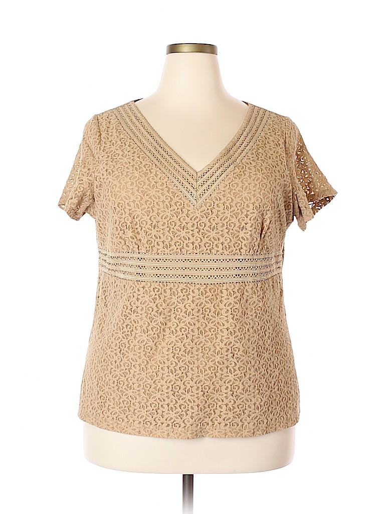 Emma James Women Short Sleeve Top Size 2X (Plus)