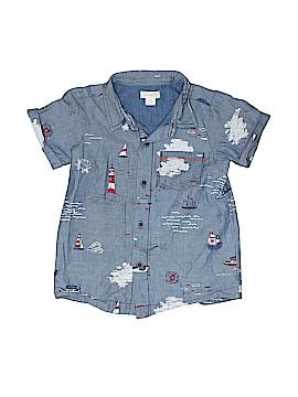 Mud Pie Short Sleeve Button-Down Shirt Size L (Infants)