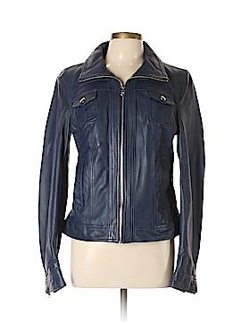 Black Rivet Faux Leather Jacket Size L