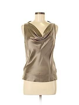 Rene Lezard Sleeveless Silk Top Size 38 (EU)