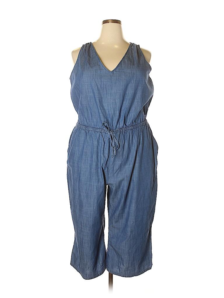 3521c14d4367f Old Navy 100% Cotton Chambray Blue Jumpsuit Size 2X (Plus) - 66% off ...