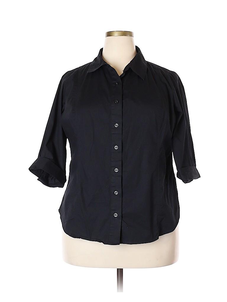 Bobbie Brooks Women 3/4 Sleeve Button-Down Shirt Size 20 - 22 (Plus)
