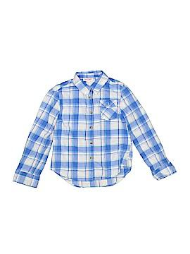 Cat & Jack Long Sleeve Button-Down Shirt Size 6 - 6X