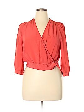 Madewell Long Sleeve Silk Top Size XL