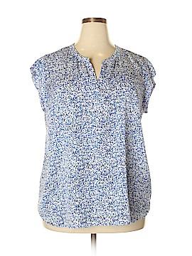 Hilary Radley Short Sleeve Blouse Size XXL