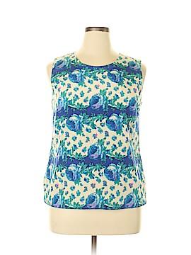 Talbots Sleeveless Silk Top Size 14