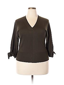 DKNY 3/4 Sleeve Silk Top Size XL