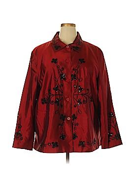 Anne Carson Silk Blazer Size 2X (Plus)
