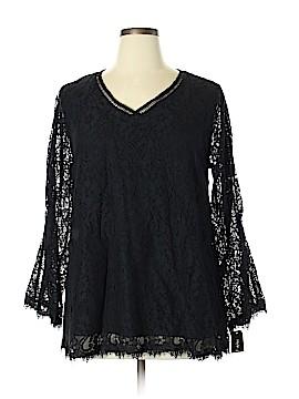 Style&Co Long Sleeve Blouse Size 0X (Plus)