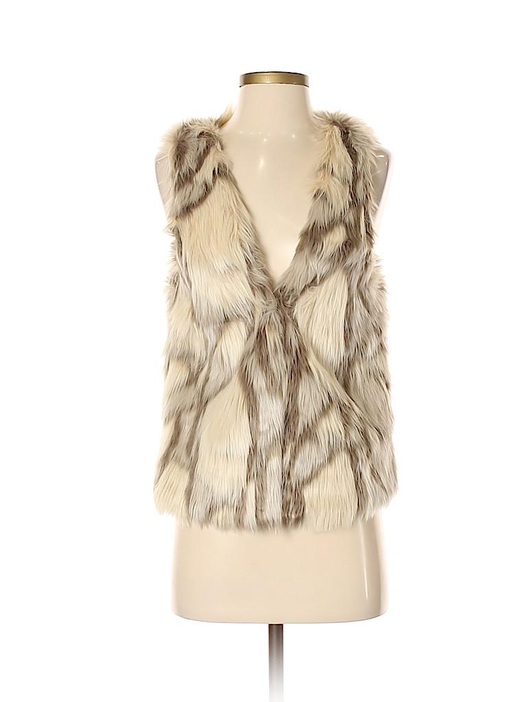 Newbury Kustom Women Faux Fur Vest Size S
