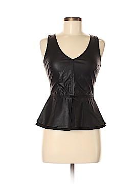 Trafaluc by Zara Faux Leather Top Size M