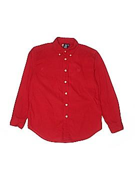 Chaps Long Sleeve Button-Down Shirt Size 12 - 14