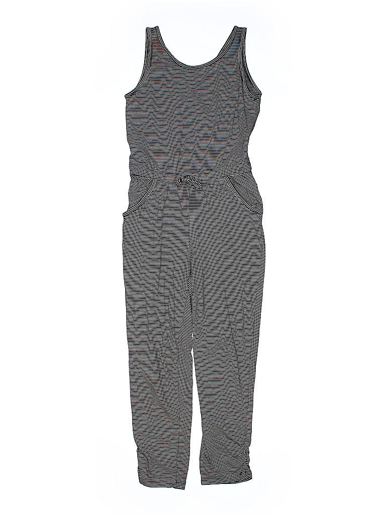 Old Navy Stripes Black Jumpsuit Size 8 48 Off Thredup