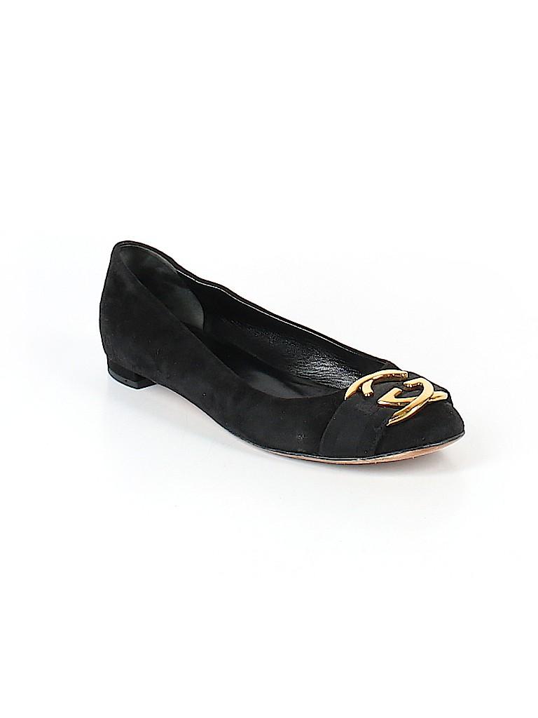 35b4cf1fedd Gucci 100% Leather Solid Black Flats Size 37 (IT) - 74% off