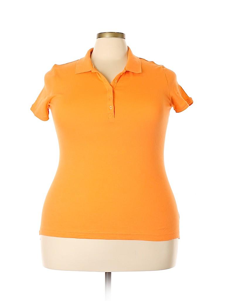 Faded Glory Women Short Sleeve Polo Size 16 - 18