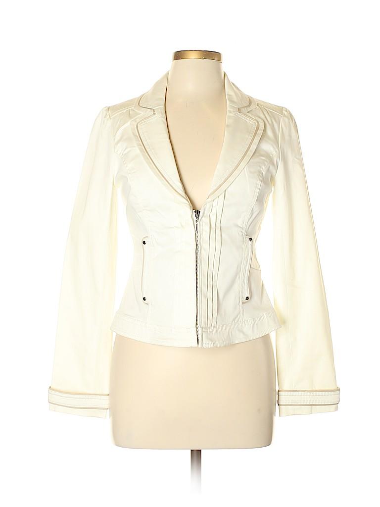 96b0d9e9ee7c55 White House Black Market Solid White Blazer Size 6 - 85% off