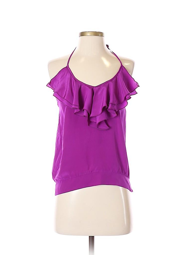 Karina Grimaldi Women Sleeveless Silk Top Size XS