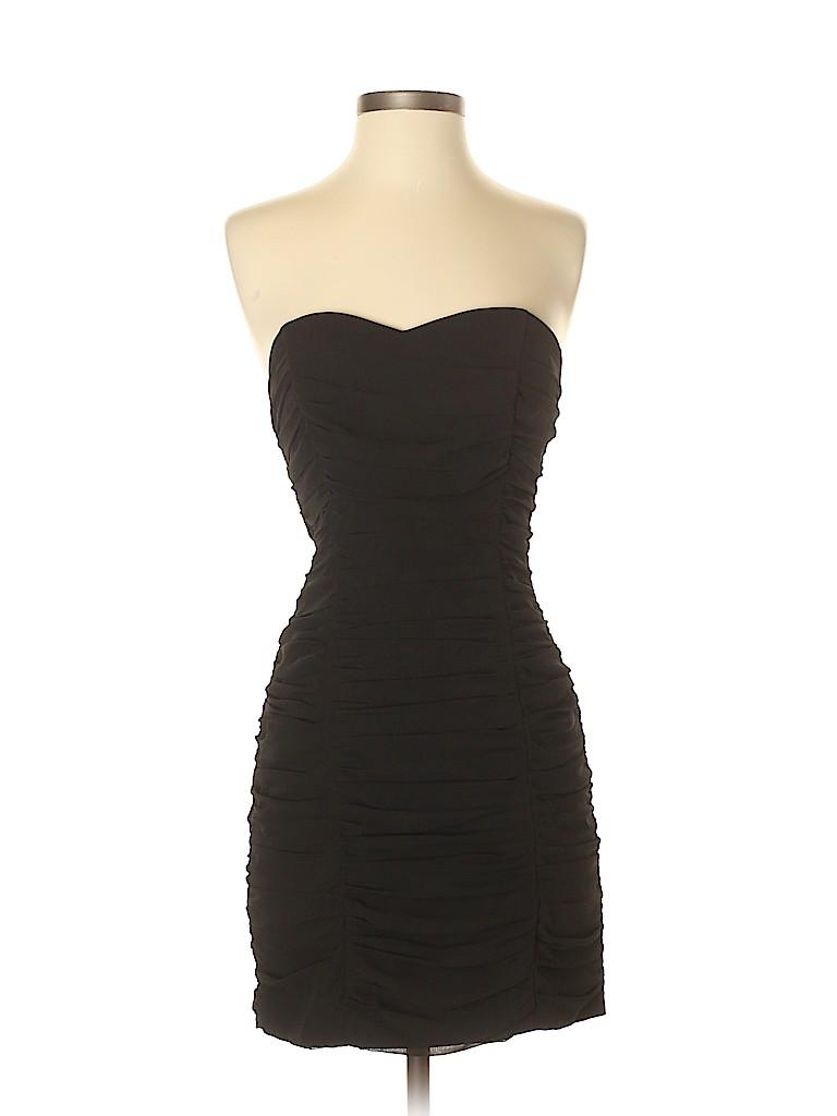 c4258817a30b8 H&M 100% Polyester Solid Black Cocktail Dress Size 6 - 91% off   thredUP