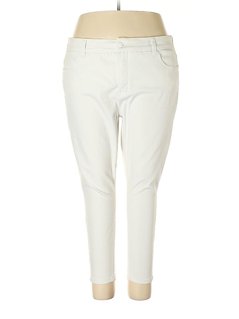 a5d37589d3dfb Melissa McCarthy Seven7 Solid White Jeans Size 24 (Plus) - 71% off ...