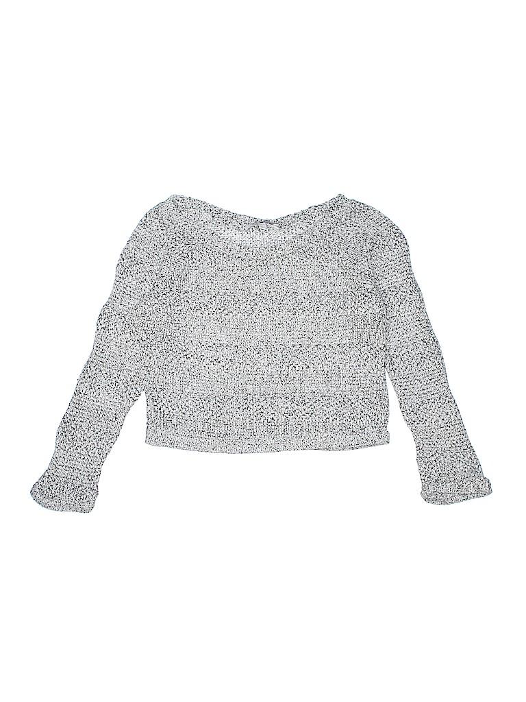 f063bf032195f Delia s Solid Gray Pullover Sweater Size M (Kids) - 62% off