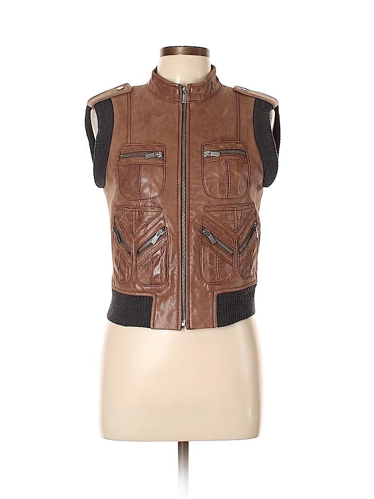 BCBGMAXAZRIA Women Leather Jacket Size M