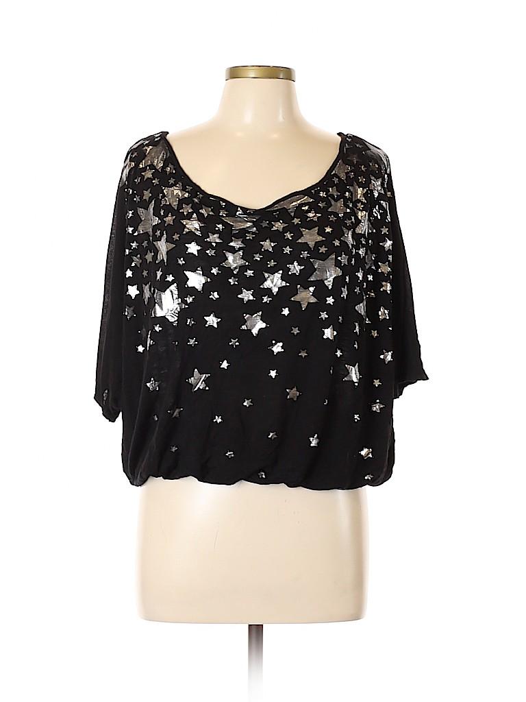 Candy Rain Women Short Sleeve Blouse Size 1X (Plus)