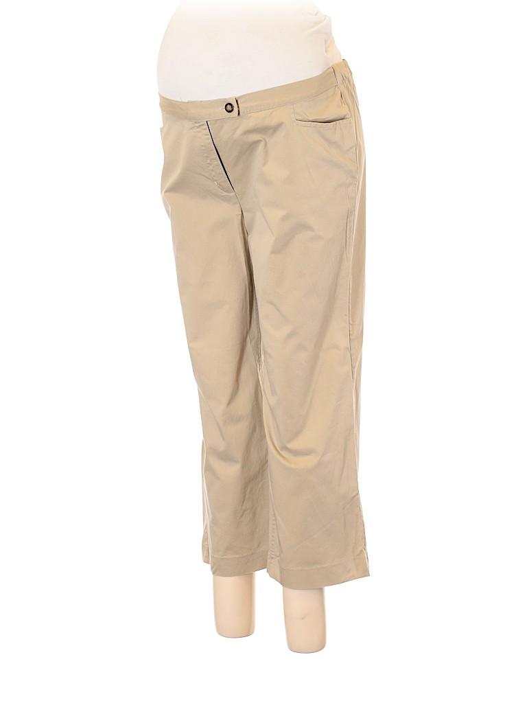 7dd2130500efb Liz Lange Maternity Solid Tan Khakis Size 12 (Maternity) - 84% off ...