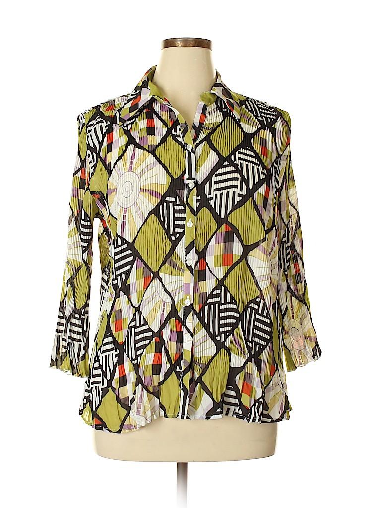 Essentials Women 3/4 Sleeve Blouse Size XL