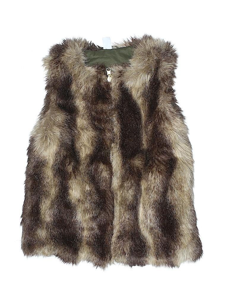 Gap Kids Girls Faux Fur Vest Size L (Kids)