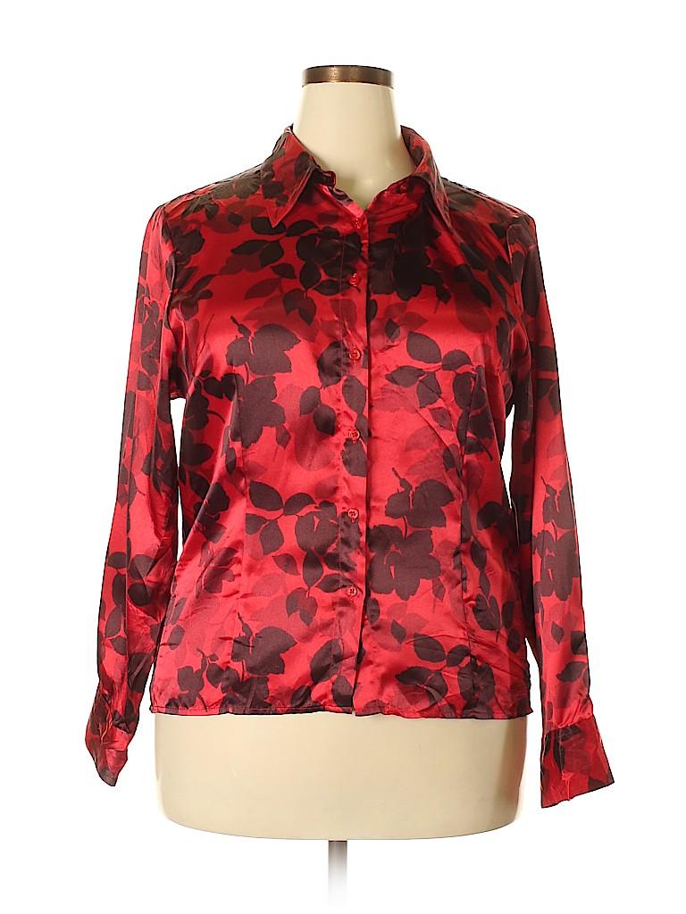 Preston & York Women Long Sleeve Blouse Size 18 (Plus)