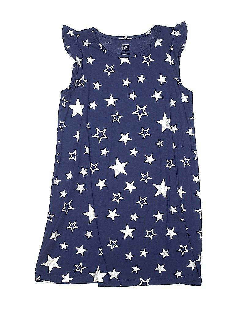 0efcf9568a8c Gap Kids 100% Polyester Stars Dark Blue Dress Size 10 - 60% off ...