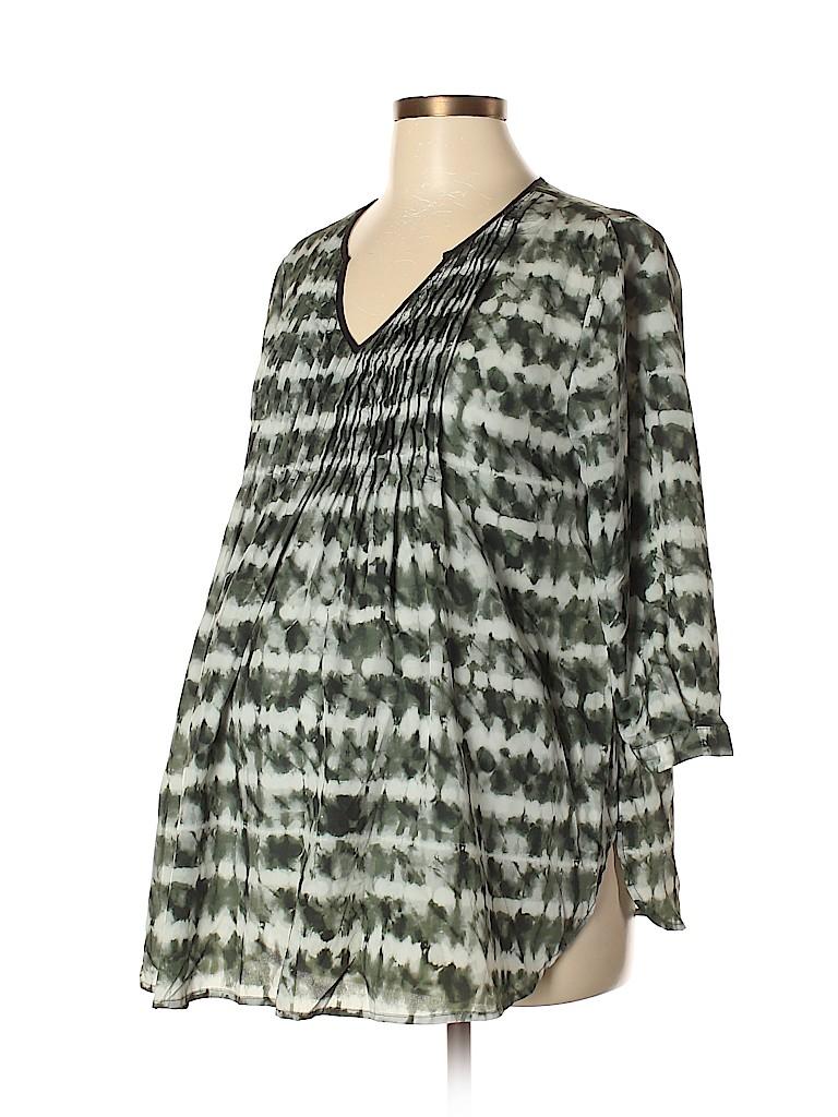 Noir Maternity Women 3/4 Sleeve Blouse Size L (Maternity)