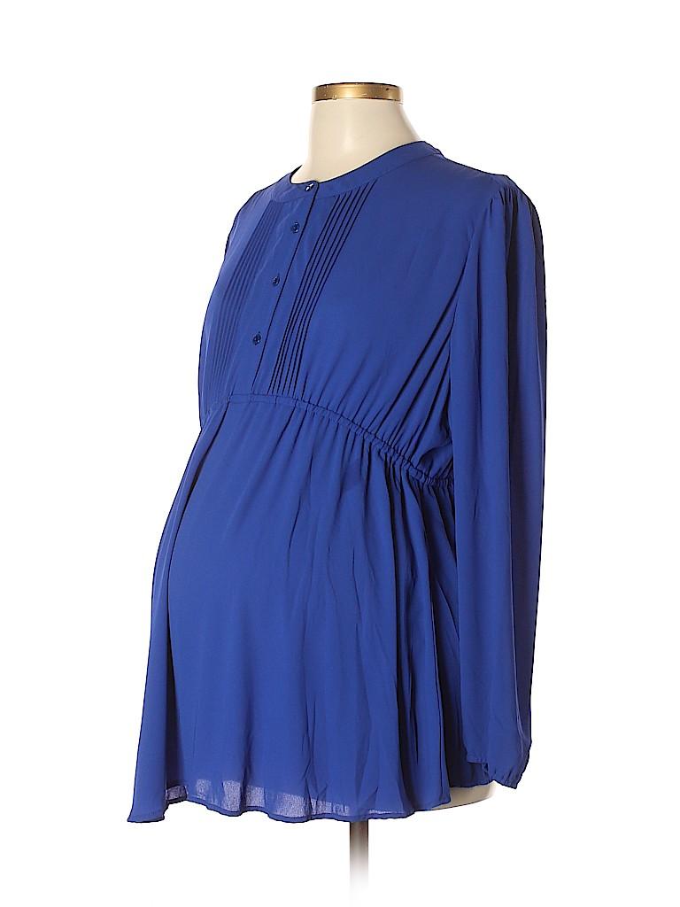 OCTAVIA Maternity Women Long Sleeve Blouse Size XL (Maternity)