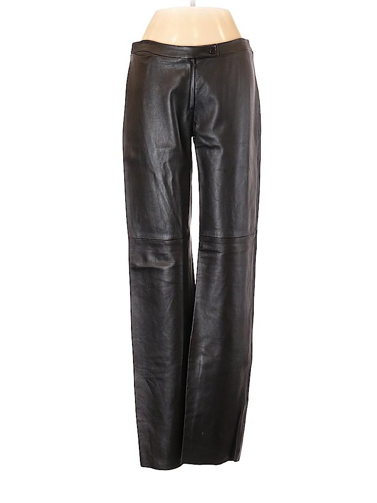 BCBGMAXAZRIA Women Leather Pants Size 4