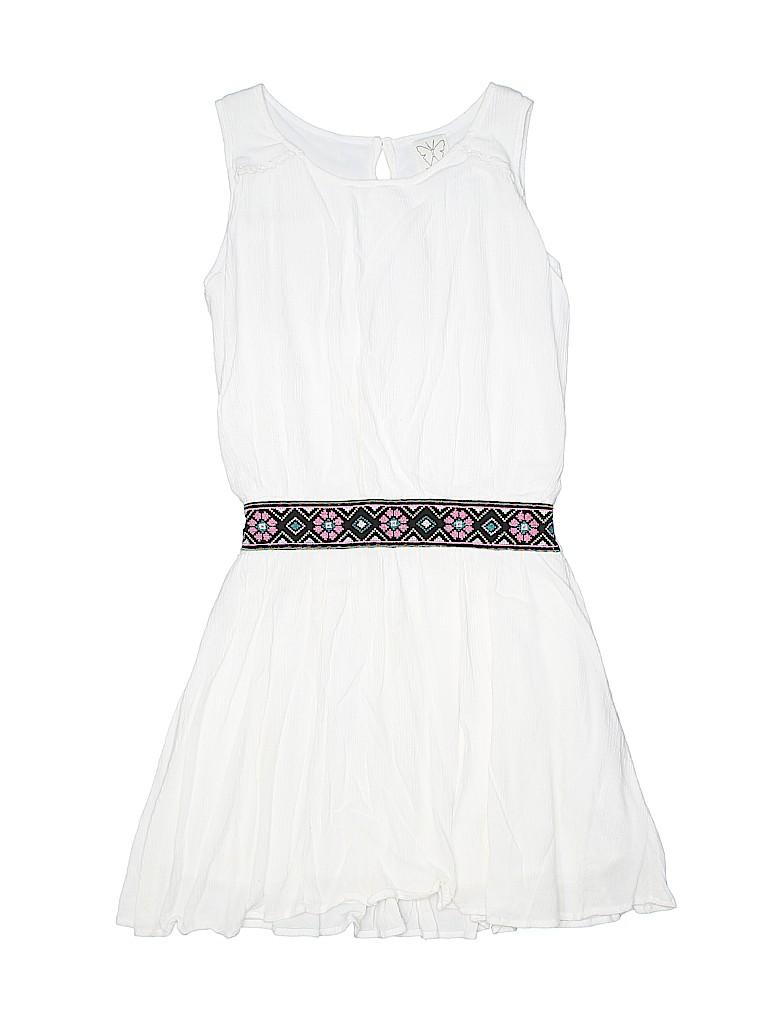 50452e2d39f7 Ella Moss 100% Rayon Solid White Dress Size 10 - 84% off