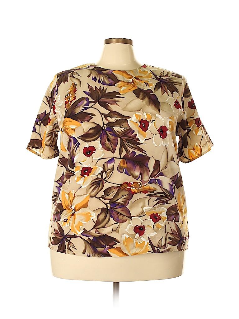 Maggie Sweet Women Short Sleeve Blouse Size 2X (Plus)