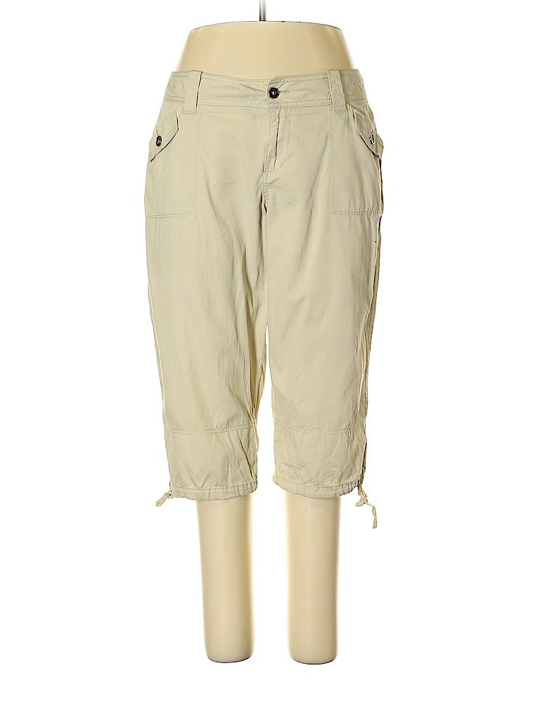 023cf3de576 SONOMA life + style 100% Cotton Solid Tan Cargo Pants Size 14 - 66 ...