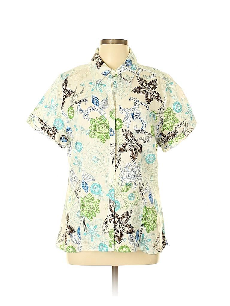 Kim Rogers Women Short Sleeve Button-Down Shirt Size XL