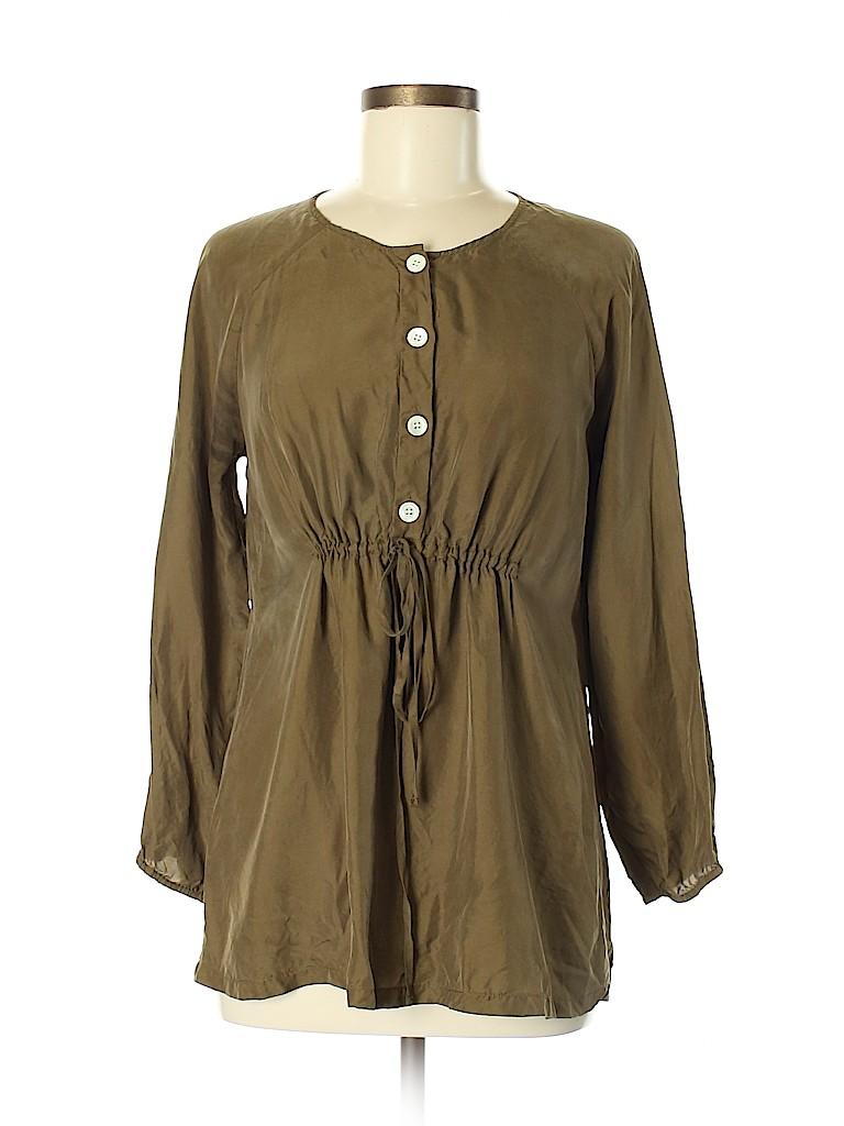 J. Crew Women 3/4 Sleeve Silk Top Size XS
